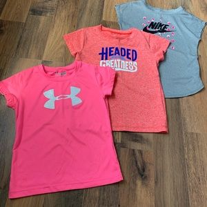 BUNDLE: Nike & Under Armour Shirts - 4T